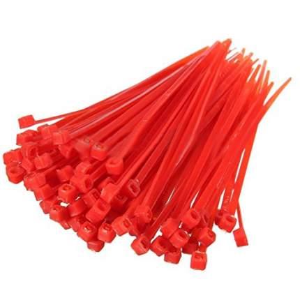 Хомуты стяжки, 150 х 2,5 мм, пластиковые, красные, 100 шт. HozTools