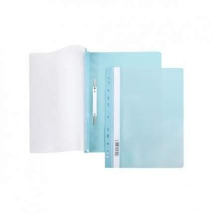 Папка-Скоросшиватель Hatber А4 Пластиковая с перфорацией. Бирюза
