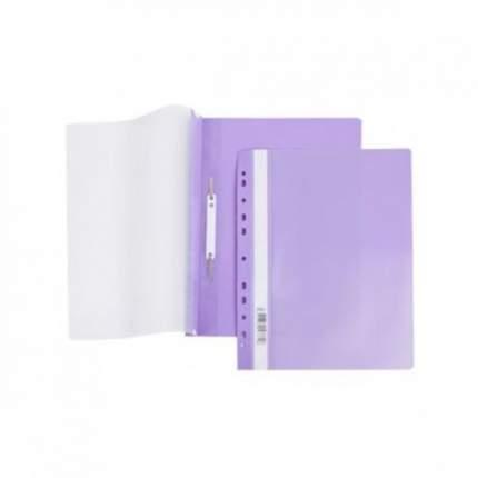 Папка-Скоросшиватель Hatber А4 Пластиковая с перфорацией Фиолетовая