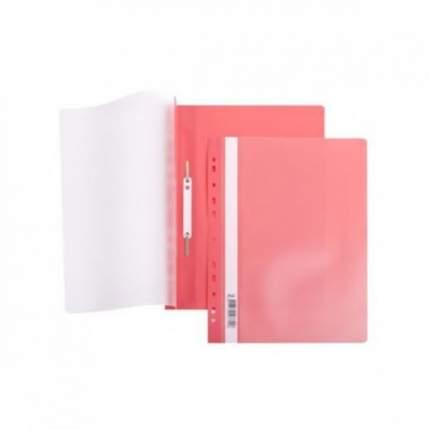 Папка-Скоросшиватель Hatber А4 Пластиковая с перфорацией Красная