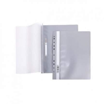 Папка-скоросшиватель. А4. 140/180 мкм. Hatber. Серый