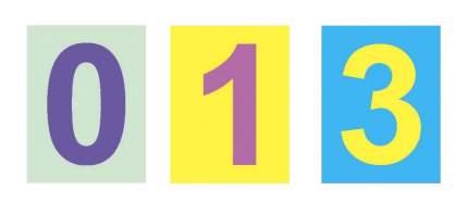 Комплект карточек: цифры, арифметические знаки