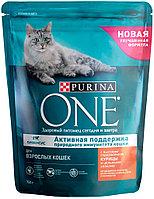 Сухой корм для кошек Purina One Sterilized , лосось, 10шт, 0.2кг