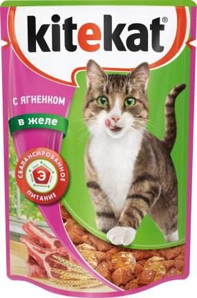 Влажный корм для кошек KiteKat для взрослых кошек, ягненок,  85г