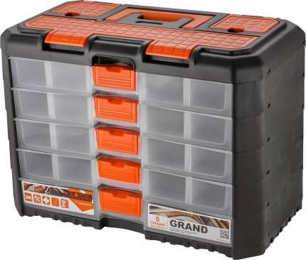 Сет для мелочей GRAND 5 секций черный/оранжевый