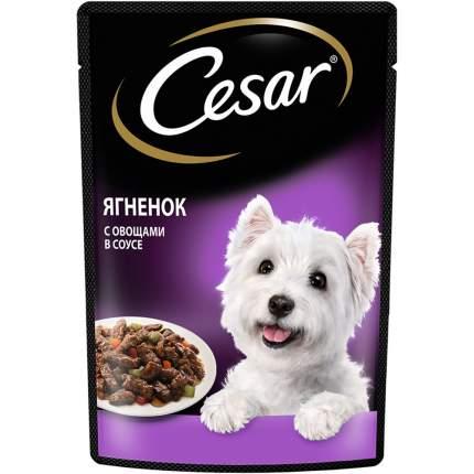 Влажный корм для собак Cesar для пород среднего размера , овощи, ягненок,  85г