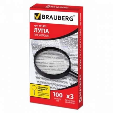 Лупа просмотровая BRAUBERG диаметр 100 мм увеличение 3 451802