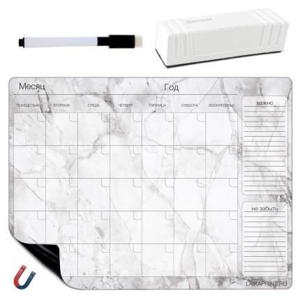 Планер магнитный LAIKAplanners на месяц Мрамор