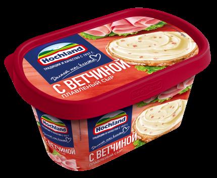 Сыр плавленый Hochland С ветчиной 400г