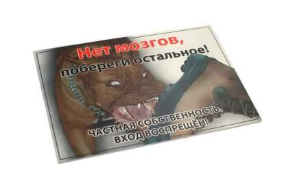 "Табличка ДАРЭЛЛ ""Нет мозгов, побереги остальное!"" формат А4"