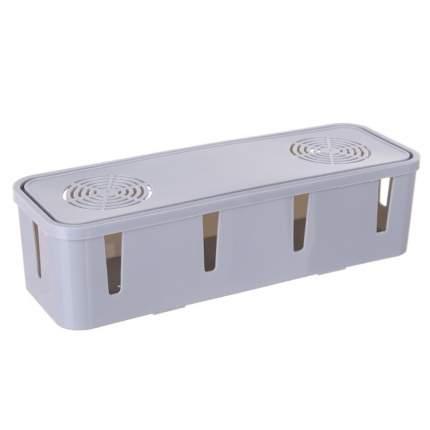 Короб органайзер для хранения проводов серый, 26,5х9,5х7 см, Blonder Home BH-BOX1-01
