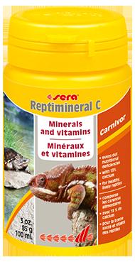 Витамины для рептилий Sera REPTIMINERAL C, пищевая добавка для плотоядных, 100 мл