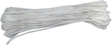 Бельевая веревка полипропиленовая, диаметр 6 мм, длина 20 м (белый)