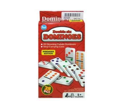 Игра настольная Домино, в наборе 28 пластиковых костяшек 10х2,50х20,50 см