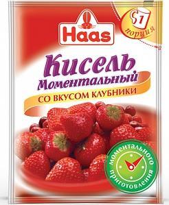Кисель Haas моментальный со вкусом клубники