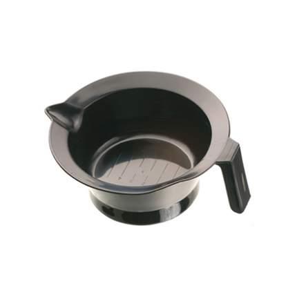 Чаша для краски Dewal, черная, с ручкой и носиком, с резинкой на дне 260 мл