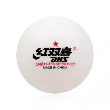 Мячи для настольного тенниса DHS 1* D40+ белые, 10 шт.