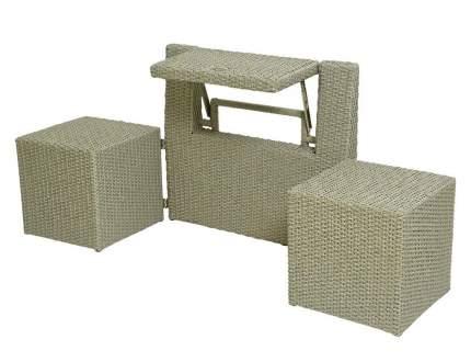 Набор садовой мебели Kaemingk Уголок для двоих 169843-Kaemingk gray 1 предметов