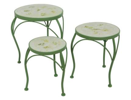 Комплект садовых столиков ТАФИТА, металл, мозаика, 3шт (Kaemingk)