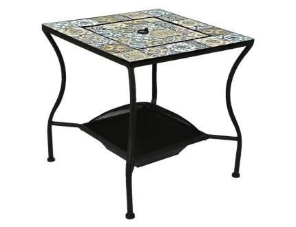 Садовый стол с чашей для костра ТУЛУЗА, металл, мозаика, 54,5x54,5x55см (Kaemingk)