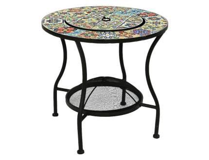 Садовый стол с чашей для костра АНДАЛУСИЯ, металл, мозаика, 58x54см (Kaemingk)