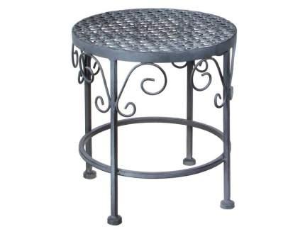 Комплект садовых столиков под кашпо АЖУРНЫЙ ПРОВАНС, металл, серый, 43х35см (Edelman)
