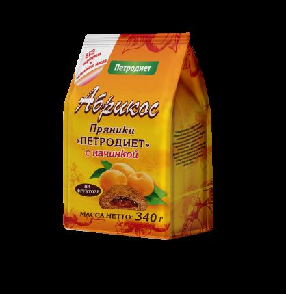 Пряники Здоровые сладости Абрикос Петродиет на фруктозе с начинкой