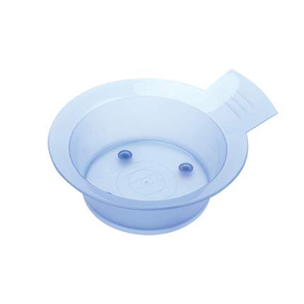 Чаша для краски Dewal с ручкой, с резинкой на дне 300 мл голубая