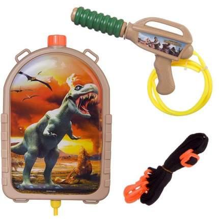 Водяной бластер Junfa toys Динозавр с рюкзачком-резервуаром, 2000мл