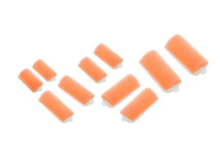 Набор бигуди поролоновых Dewal Beauty диаметр 28 мм, длина 70 мм (10 штук) оранжевые