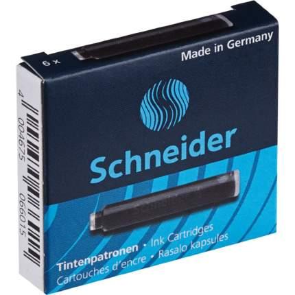 Картриджи чернильные SCHNEIDER, комплект 6 штук в коробке, черные, 6601