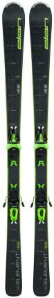 Горные лыжи Elan Element Black Ls + El 10 Shift 2021, black/green, 160 см
