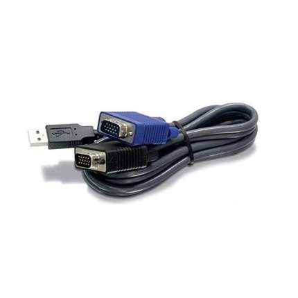 Кабель KVM TRENDnet TK-CU10 USB/VGA, 3 м
