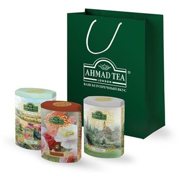 Коллекция подарочного чая Ahmad Tea Fine Tea Collection 3 вкуса чёрного чая, 3х100г