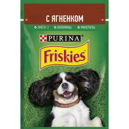 Влажный корм для собак Friskies, ягненок, 85г