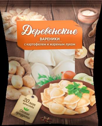 Вареники Деревенские с картошкой и луком 500 г