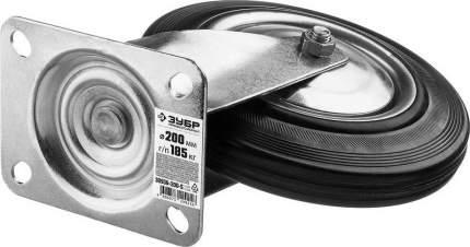 Колесо поворотное d=200мм, г/п 185кг, резина/металл, игольчатый подшипник, ЗУБР