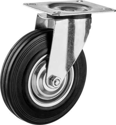 Колесо поворотное d=125мм, г/п 100кг, резина/металл, игольчатый подшипник, ЗУБР