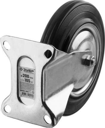 Колесо неповоротное d=200мм, г/п 185кг, резина/металл, игольчатый подшипник, ЗУБР