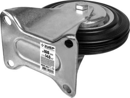 Колесо неповоротное d=160мм, г/п 145кг, резина/металл, игольчатый подшипник, ЗУБР