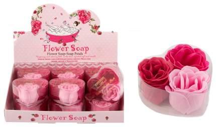 Набор декоративного мыла 81726 Роза в подар. упак. из 12 шт. в дисплее