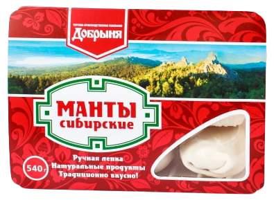 Манты Добрыня Сибирские 540 г