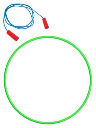 Скакалка спортивная + Обруч 60 см. зеленый