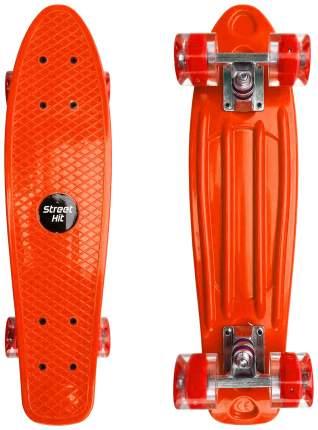 Скейт Cruiser Board Street Hit Оранжевый со светящимися колесами