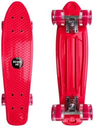 Скейт Cruiser Board Street Hit Красный со светящимися колесами