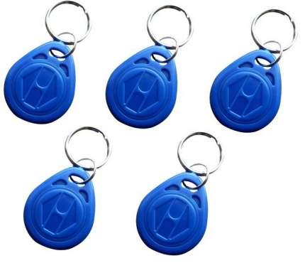 """Брелок бесконтактный """"капля"""" MAJOR Em-Marine (ключ), синий, 5 штук"""
