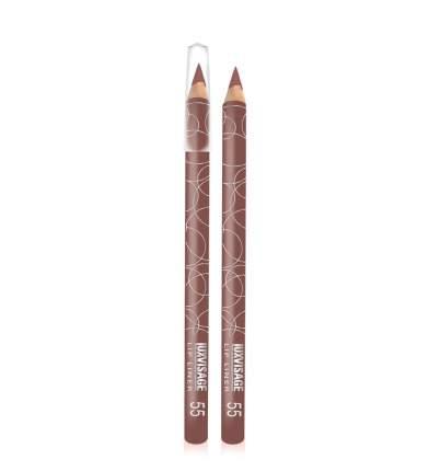 Карандаш для губ  LUXVISAGE 55 тон коричнево-бордовый