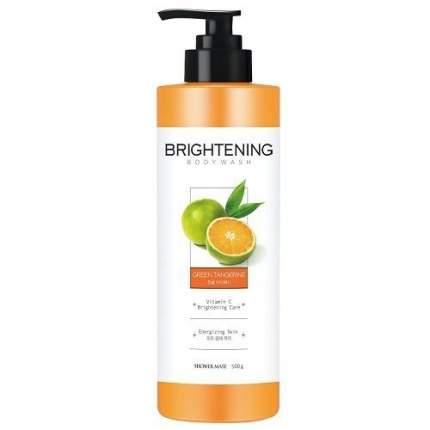 Гель для душа SHOWER MATE  Brightening Green Tangerine Заряд энергии 500г