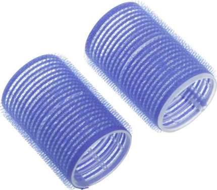 Набор бигуди-липучек Dewal Beauty диаметр 40 мм, длина 63 мм (10 штук) синие
