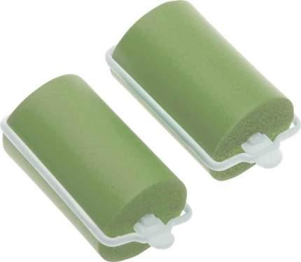 Набор бигуди резиновых Dewal Beauty, 38 мм x 70 мм (10 штук), зеленые